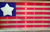 LED-amerikanische Flagge.
