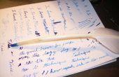 Machen eine echte Feder Feder zu schreiben