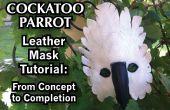 Kakadu Papagei Leder Maske Tutorial: Vom Konzept bis zur Fertigstellung