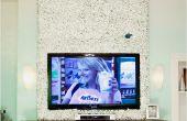 Hübsche Buchsbaum Wandverkleidung rund um Ihre montierten TV