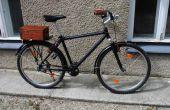 Ein modernes Fahrrad alt