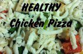 Schnelle & einfache gesunde Hähnchen Pizza!