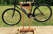 Selbstgemachte hölzerne Fahrradständer mit Dual Montage