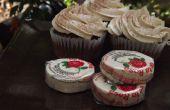 Spicy Chocolate Cupcakes mit De La Rosa Zuckerguss Candy