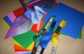 Origami Kranich Kronleuchter