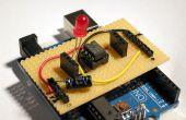 Stripboard Arduino Shield für die Programmierung von ATtiny45 und ATtiny85