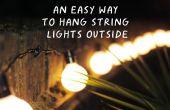Eine einfache Möglichkeit, Schnur hängen Leuchten außerhalb