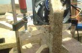 Einfach Fan-Halter aus Altholz