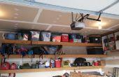 Schwimmende Garage Regale