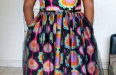 Vintage inspirierte Kleid mit afrikanischen Wachs Stoff