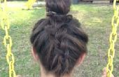 Wie Niederländisch Flechten Ihre Haare zu einem Knoten