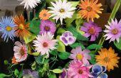 Blumensträuße der Blumen aus Papier zu machen