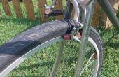 Altes Fahrrad, neue Räder - Gebäude eine Drop-Schraube um die Bremsen passen zu machen.