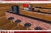 Hangout-Schlafzimmer mit Snack-Bar und Studie Raum!