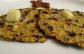 Gefüllte Makki Ki Roti / indischen Brot Rezept