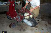 Installieren Sie eine 65cc Pollini Kit auf einen 1998 Italjeft Velocifero