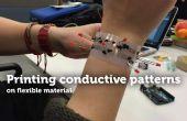 Flexible Material TfCD leitfähige Mustern bedrucken