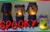 DIY-Haunted Halloween Laterne