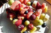 Gefrorenes Obst Salat & gefrorene Banane Nutella Spieß - lecker, lecker!