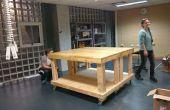 Makerspace Werkbank auf Räder