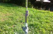 """Montage einer Videokamera """"Spion"""" auf einer Druckluft-Rakete"""