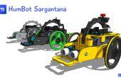 Gedruckte 3D-Roboter Arduino: Humbot Sargantana