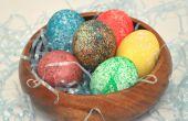 Wie man Ostern färben Eiern mit Reis