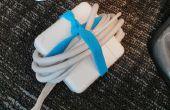 Kautschuk Armbänder halten Ihre Stromkabel organisiert
