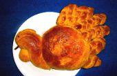 Kürbis Challah Brot (Türkei geformt)
