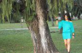 Wie erstelle ich eine off-Shoulder-Langarm-Kleid mit Gürtel