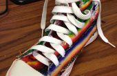 Mexikanische Decke gepatcht und bestickt Converse High Top Sneaker