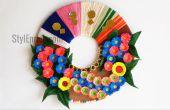 DIY-Wand-Deko-Idee: Wie erstelle ich einen Papier-Kranz für Hauptdekoration