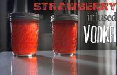 Erdbeere infundiert Wodka