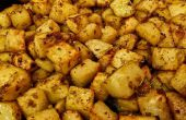 Gebratene Kartoffeln mit Knoblauch und Rosmarin