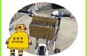 Super-Deluxe Custom Fahrradkorb für unter $5.00, (Verwendung von Karton, Draht & Klebeband)