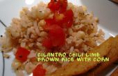 Koriander Chili Lime brauner Reis mit Mais