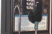 Konvertieren ein Münztelefon für den Heimgebrauch.