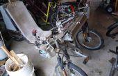 Elektrische Kaulquappe Liegerad Full Suspension Trike mit DIY Motorregler Titan