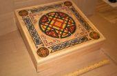 Gravierter Stein Rune gesetzt und dekoriert Aufbewahrungsbox