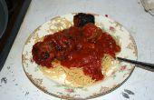 Slow Cooker Spaghetti und Fleischbällchen