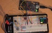Mit einer Quadratur-Encoder mit einem ATtiny 2313 und ein OLED-Display