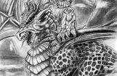 HNO und Dragon Bleistiftzeichnung