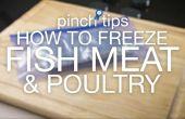 Wie Fisch, Fleisch & Geflügel Einfrieren
