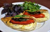 Hähnchenbrust mit Mozzarella und Paprika