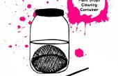 Erstellen Sie Ihre eigenen Pinsel reinigen Farbbehälter