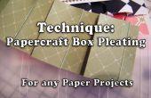 Wie erstelle ich Papercraft Box Plissee