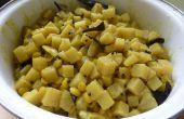 Ein Paleo-Gericht mit zarten Banane Stamm