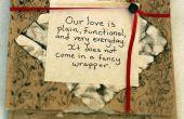Papier-Tasche-Valentine-Karte