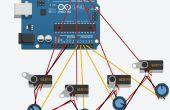 Anfänger 123D Schaltung Arduino Steuerung Servos