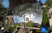 Machen eine solare Parabolspiegel aus einem 8 x 4-Blatt aus Kunststoff (ohne zu viel Abfall)
